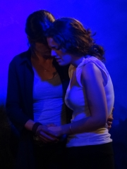 From L-R Jo Papangelou and Marta Vergara in a scene from Behind the Wall (1)