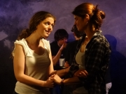 From L-R  Marta Vergara and Jo Papangelou  in a scene from Behind the Wall